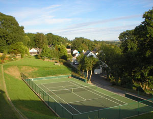 Tennis court in beautiful grounds